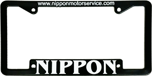 Nippon Motor Service license plate surround